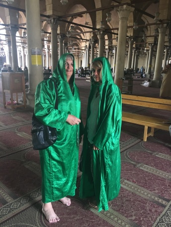 Respect the culture. We were required to wear a robe inside the mosque.